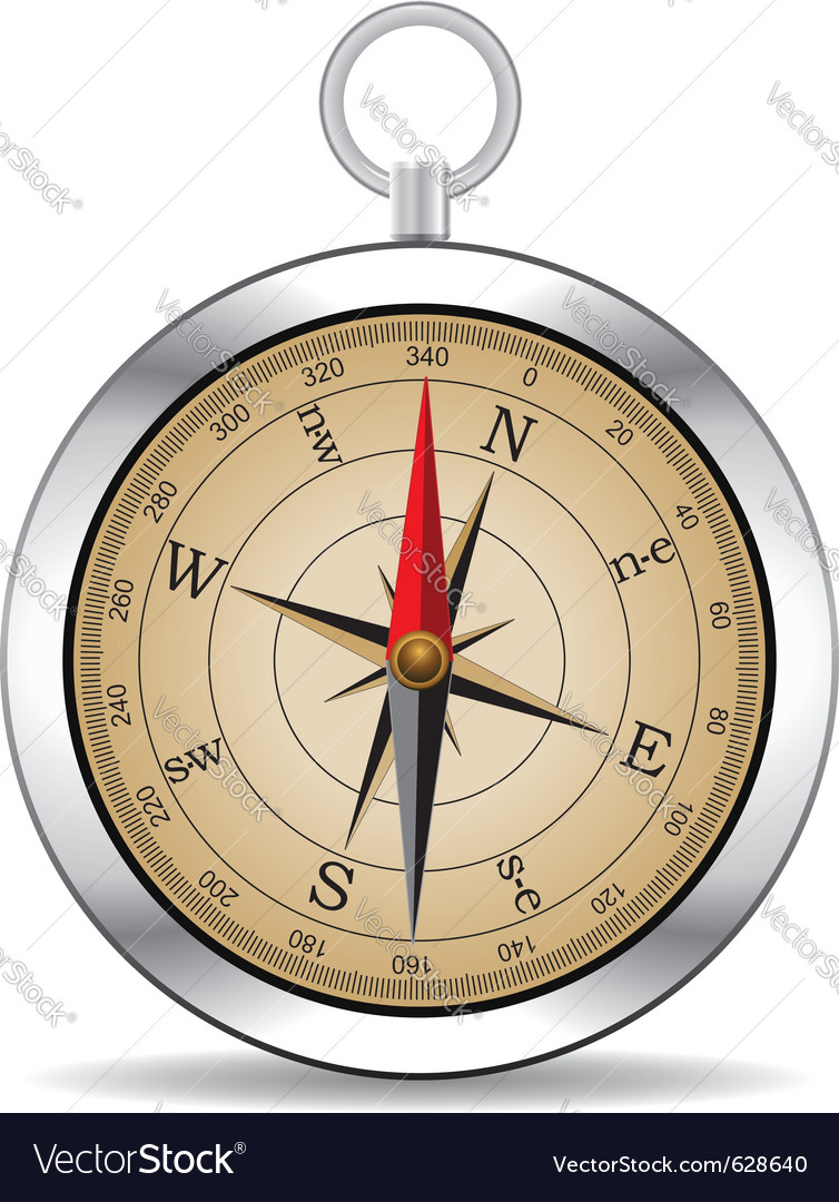 Vintage compass vector | Price: 3 Credit (USD $3)
