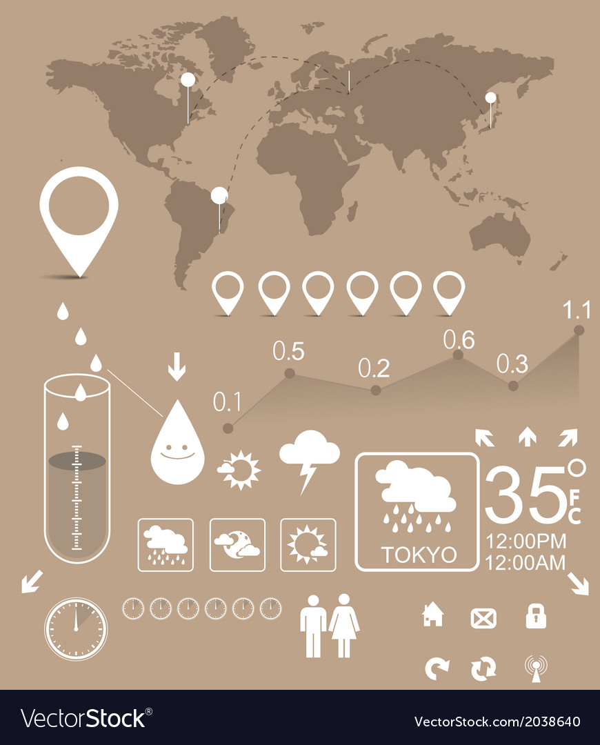 Weather infographic vector | Price: 1 Credit (USD $1)