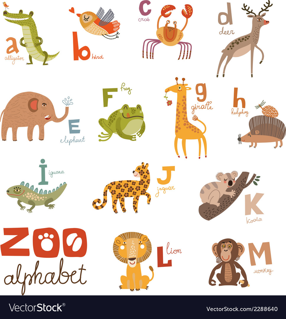 Zoo abc vector | Price: 1 Credit (USD $1)