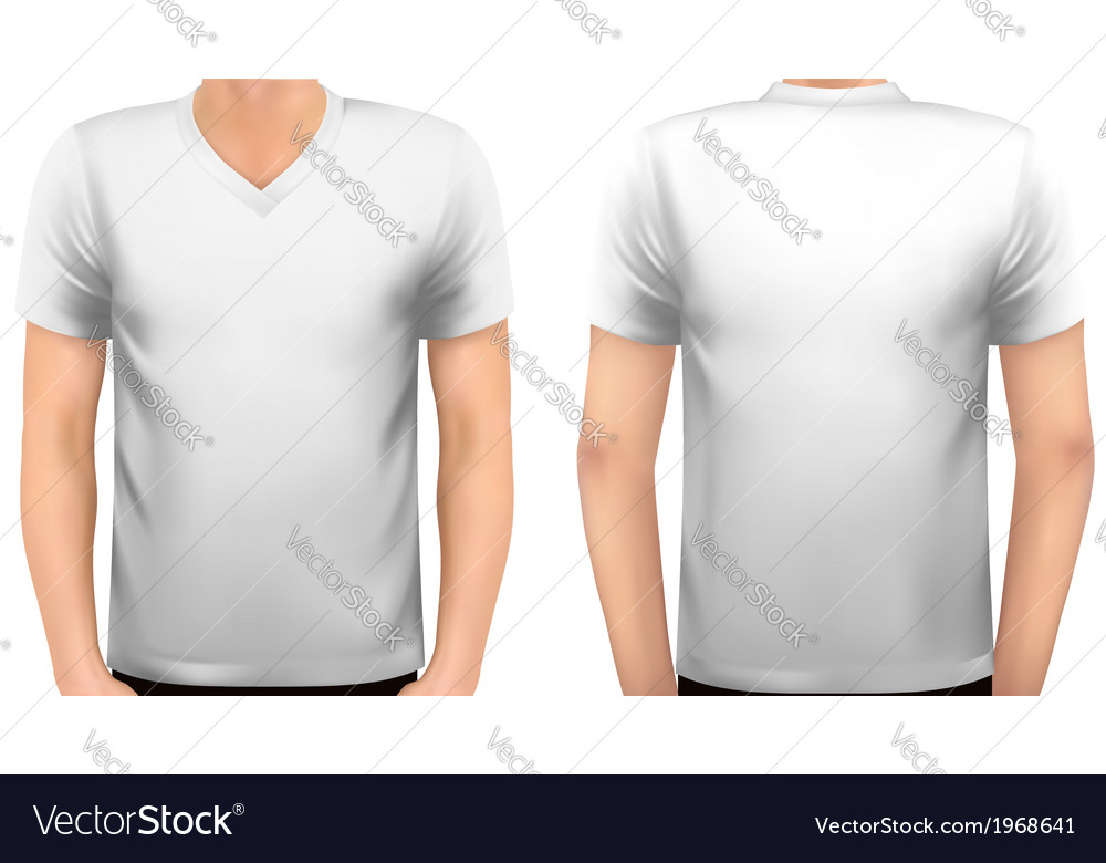 A male body with a white shirt on vector | Price: 1 Credit (USD $1)