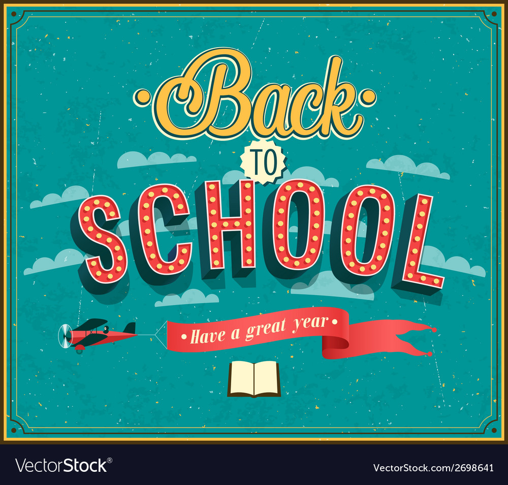 Back to school typographic design vector | Price: 1 Credit (USD $1)
