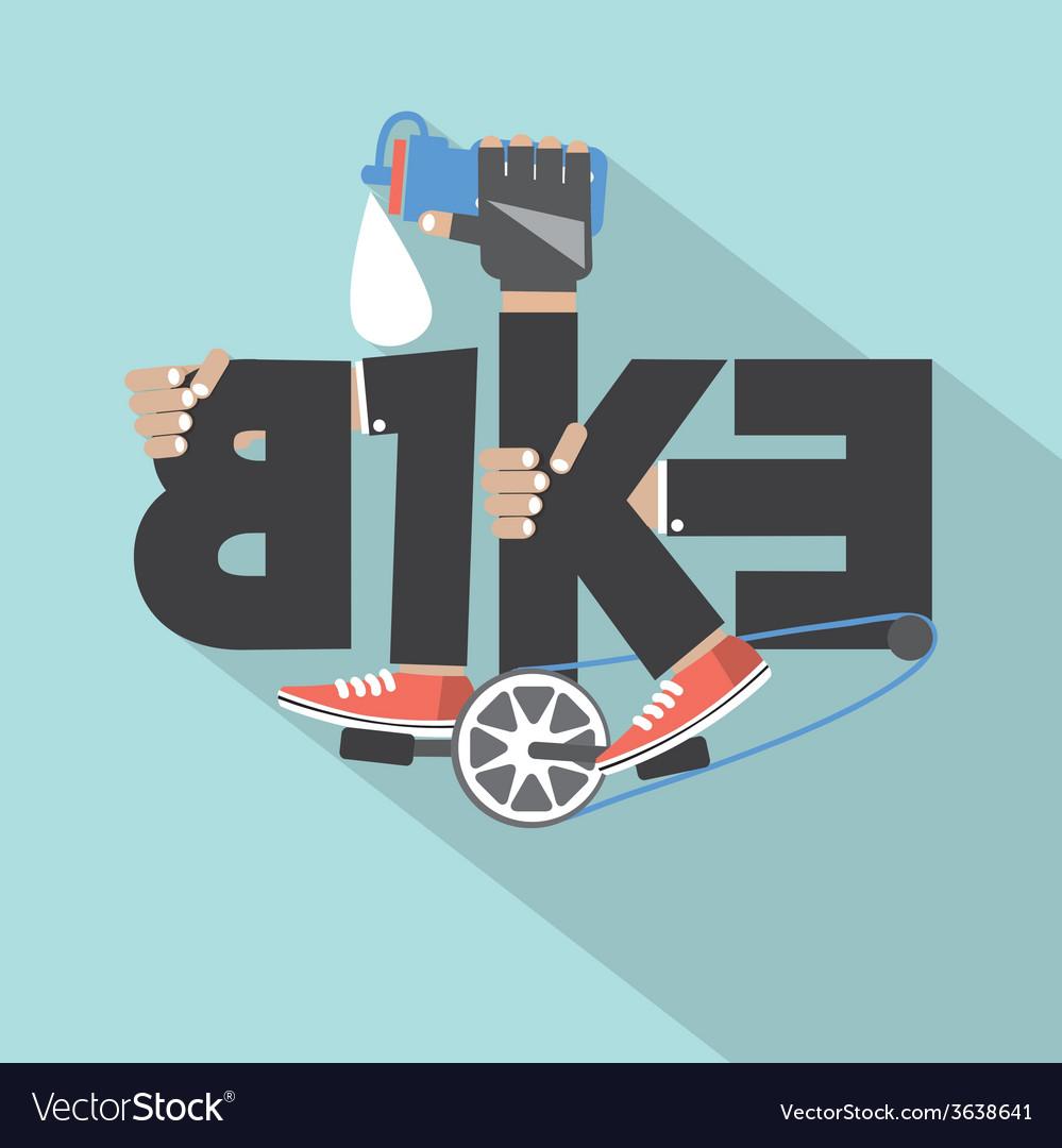 Bicycle typography design vector | Price: 1 Credit (USD $1)