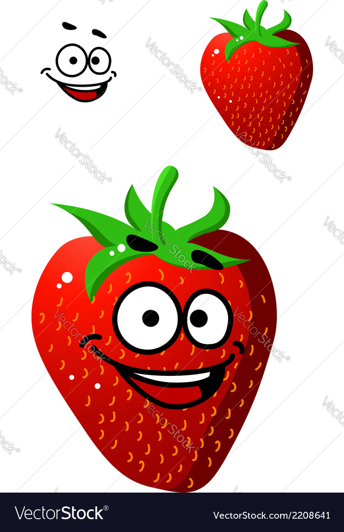 Colorful fresh ripe red strawberry vector | Price: 1 Credit (USD $1)