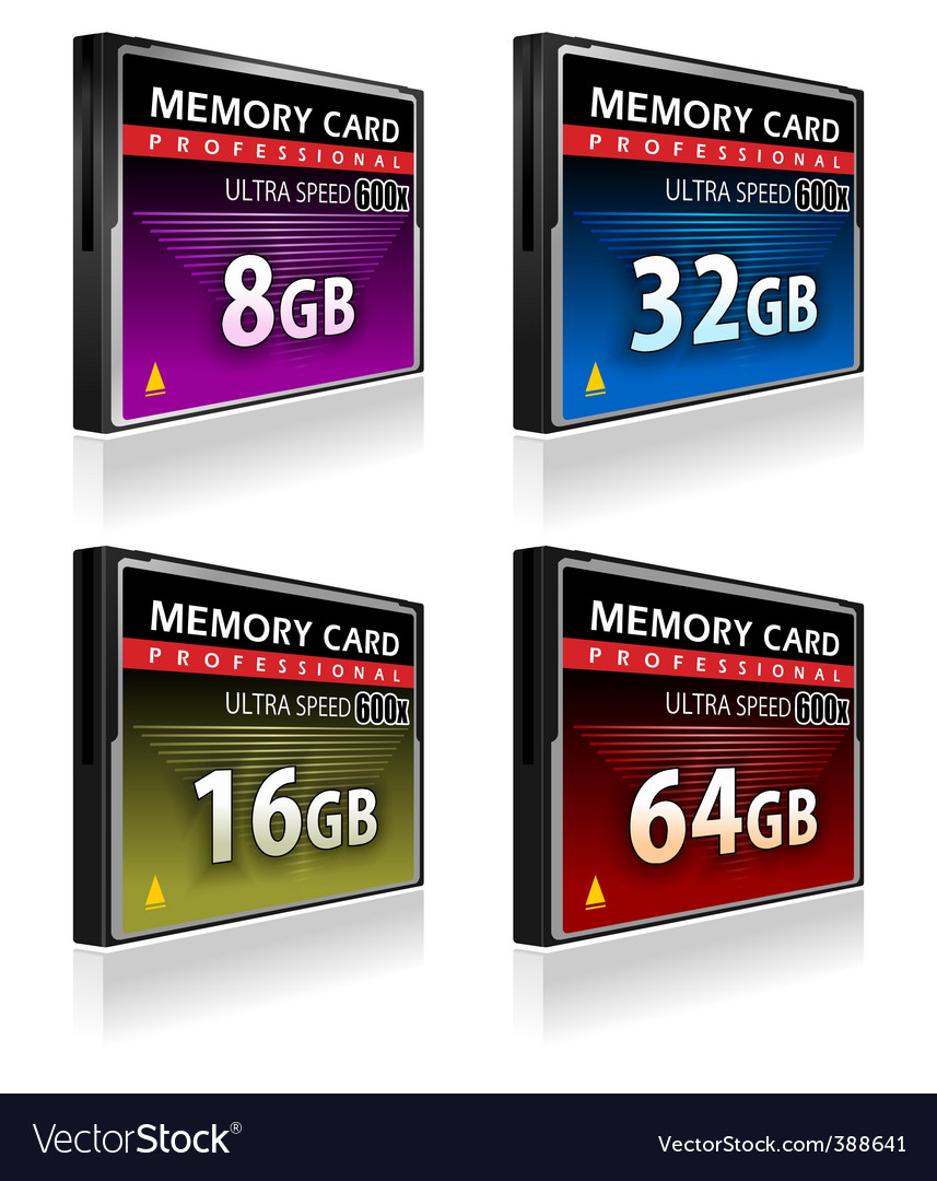 Compact flash memory cards vector | Price: 3 Credit (USD $3)