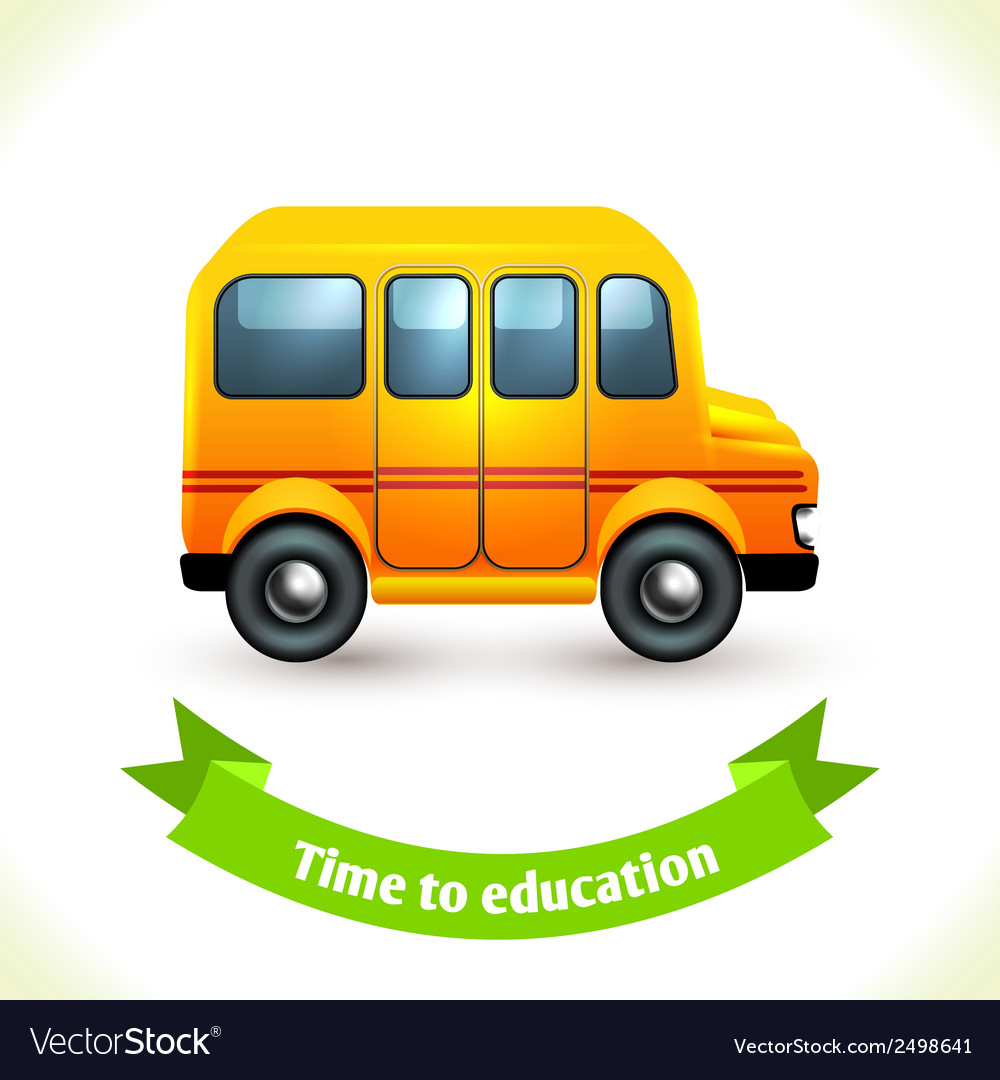 Education icon school bus vector | Price: 1 Credit (USD $1)