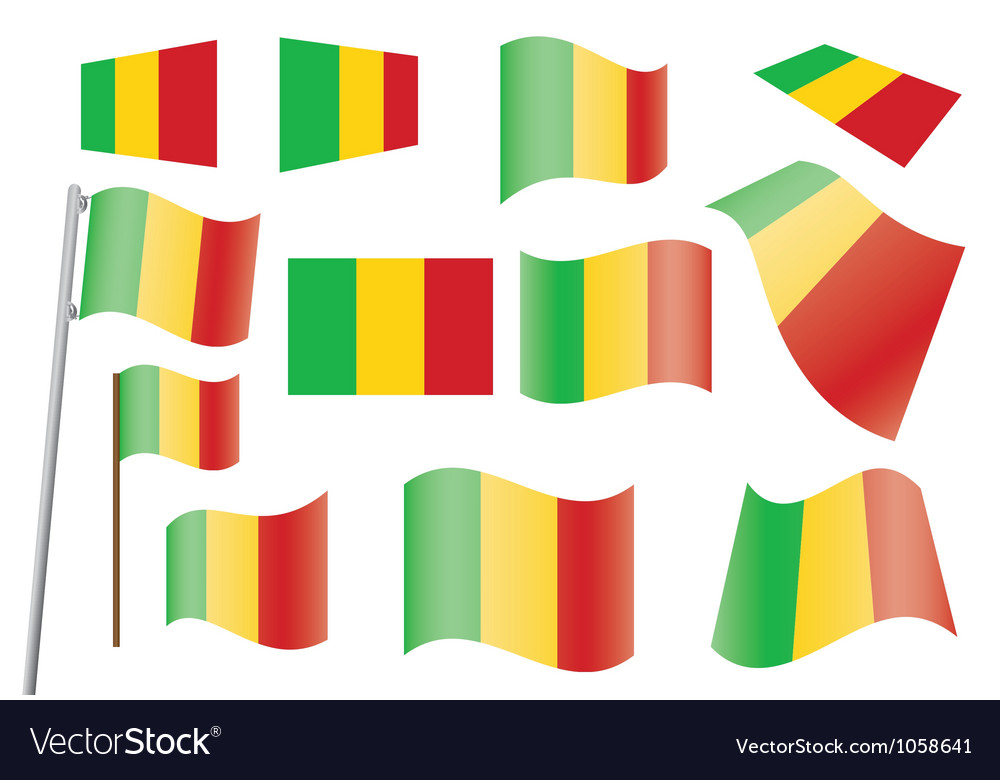 Flag of mali vector | Price: 1 Credit (USD $1)