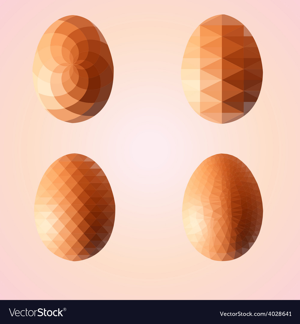 Geometric shape set of egg easter egg triangular vector | Price: 1 Credit (USD $1)