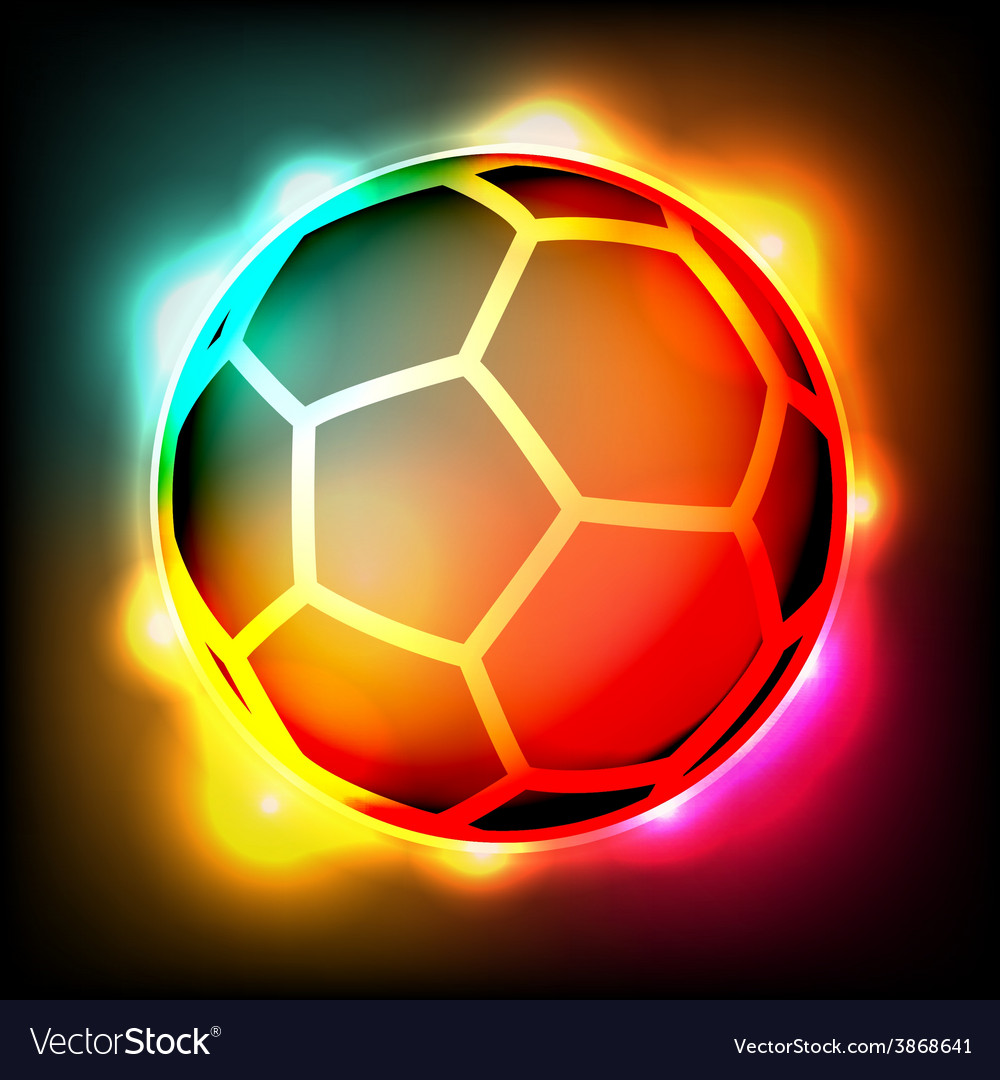 Glowing soccer ball vector | Price: 1 Credit (USD $1)