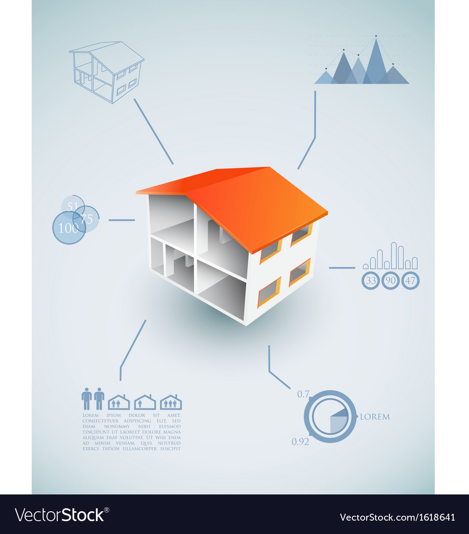 Housing infographic vector | Price: 1 Credit (USD $1)