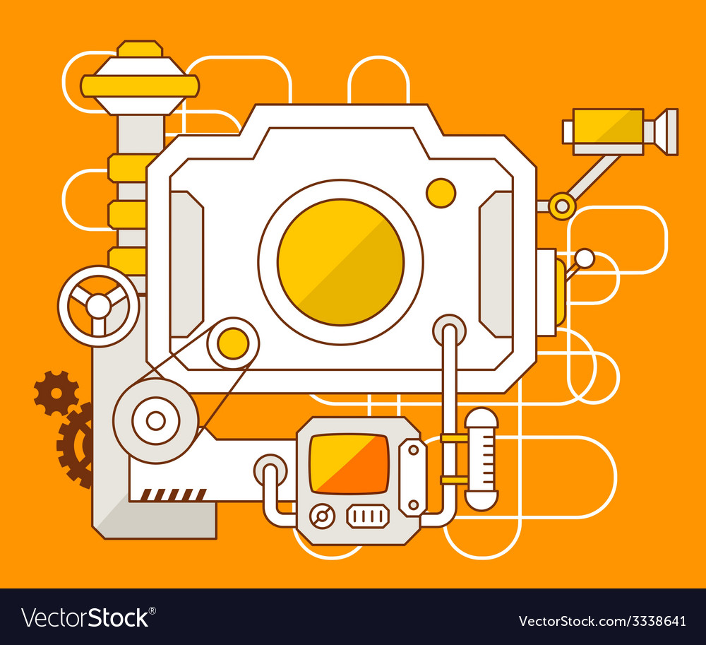Industrial of the mechanism of photo camera vector | Price: 3 Credit (USD $3)