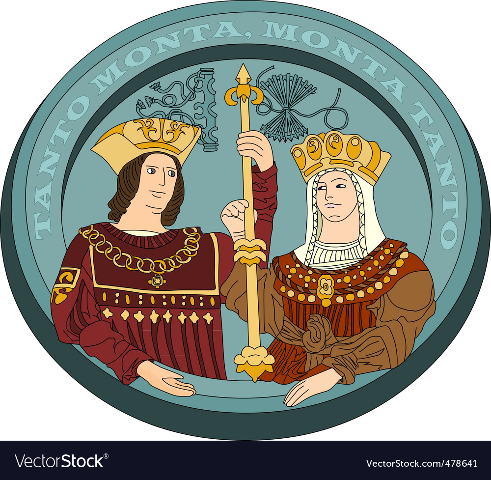 Isabella i and ferdinand ii vector | Price: 1 Credit (USD $1)