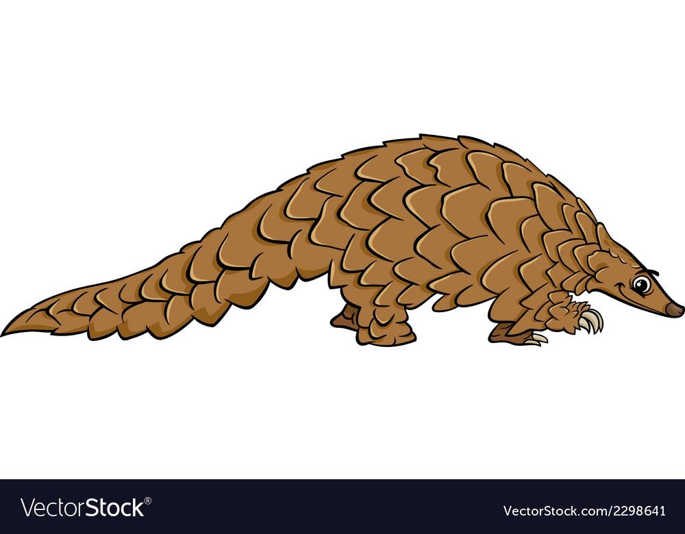 Pangolin animal cartoon vector | Price: 1 Credit (USD $1)