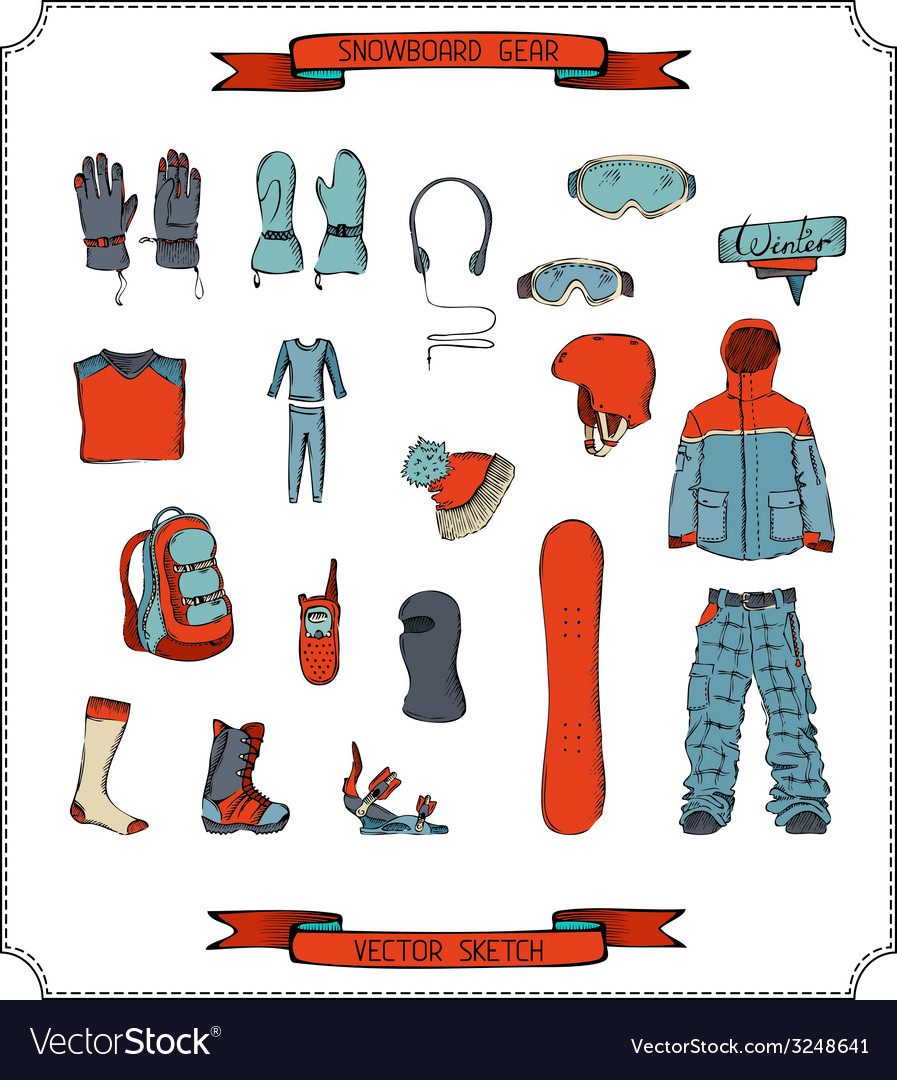 Snowboard equipment vector | Price: 1 Credit (USD $1)