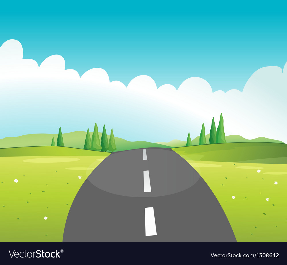 A long road vector | Price: 1 Credit (USD $1)