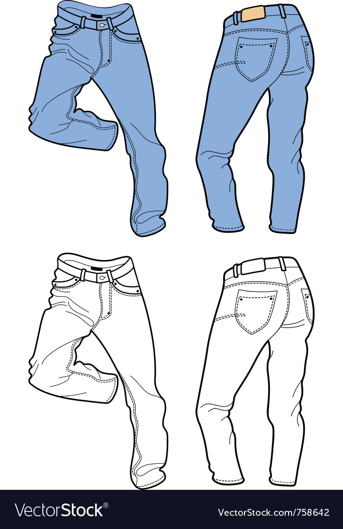 Blue man jeans vector | Price: 1 Credit (USD $1)