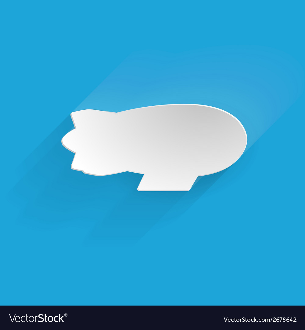 Flat silhouette icon for zeppelin vector | Price: 1 Credit (USD $1)