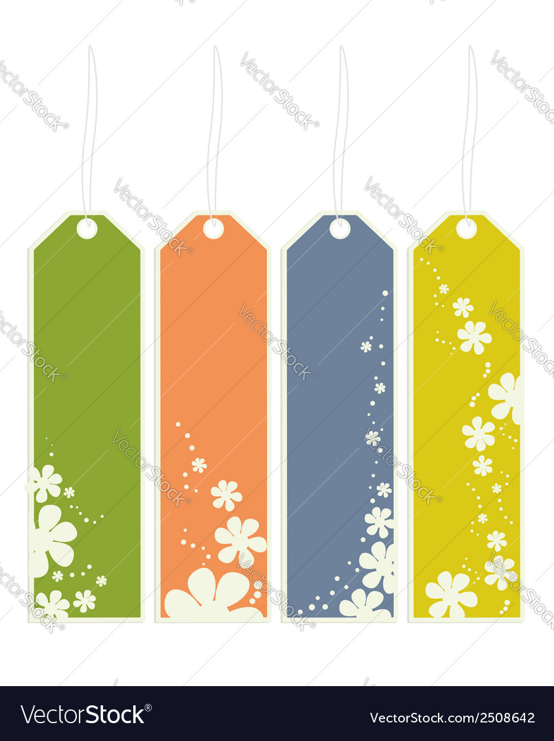 Flower bookmarks vector | Price: 1 Credit (USD $1)