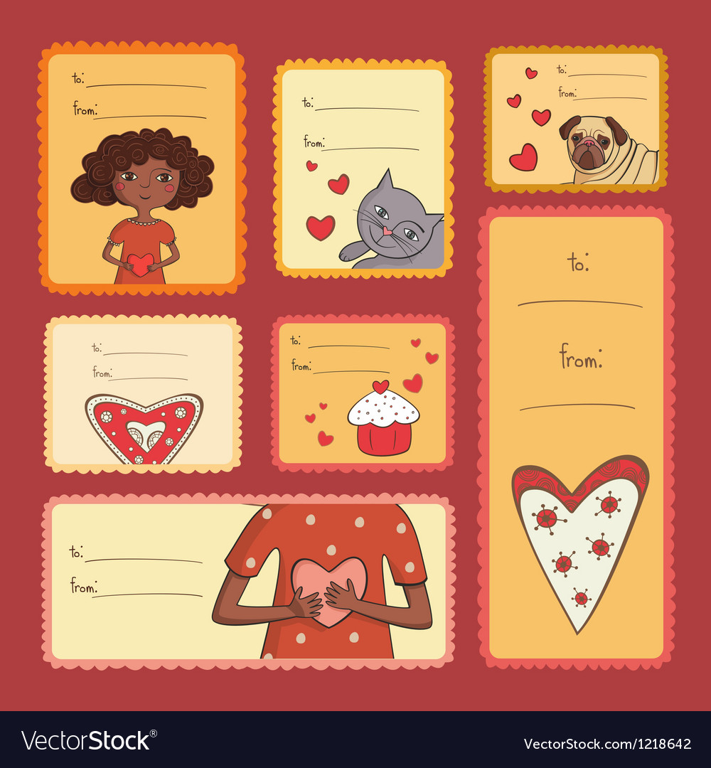 Gift tags with love vector | Price: 3 Credit (USD $3)