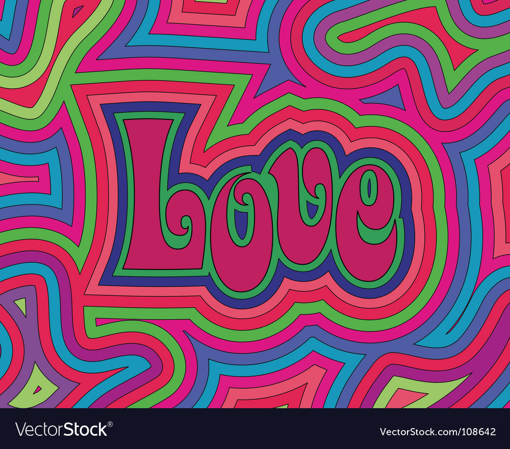 Groovy love vector | Price: 1 Credit (USD $1)