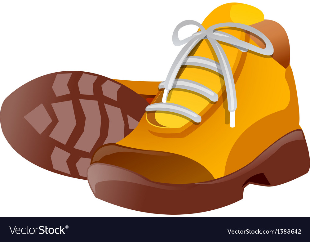 Icon hiking shoes vector | Price: 1 Credit (USD $1)