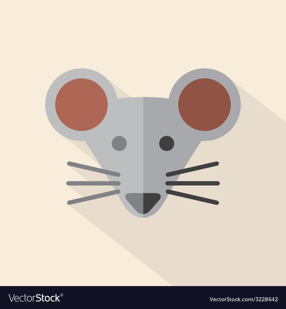 Modern flat design mouse icon vector | Price: 1 Credit (USD $1)