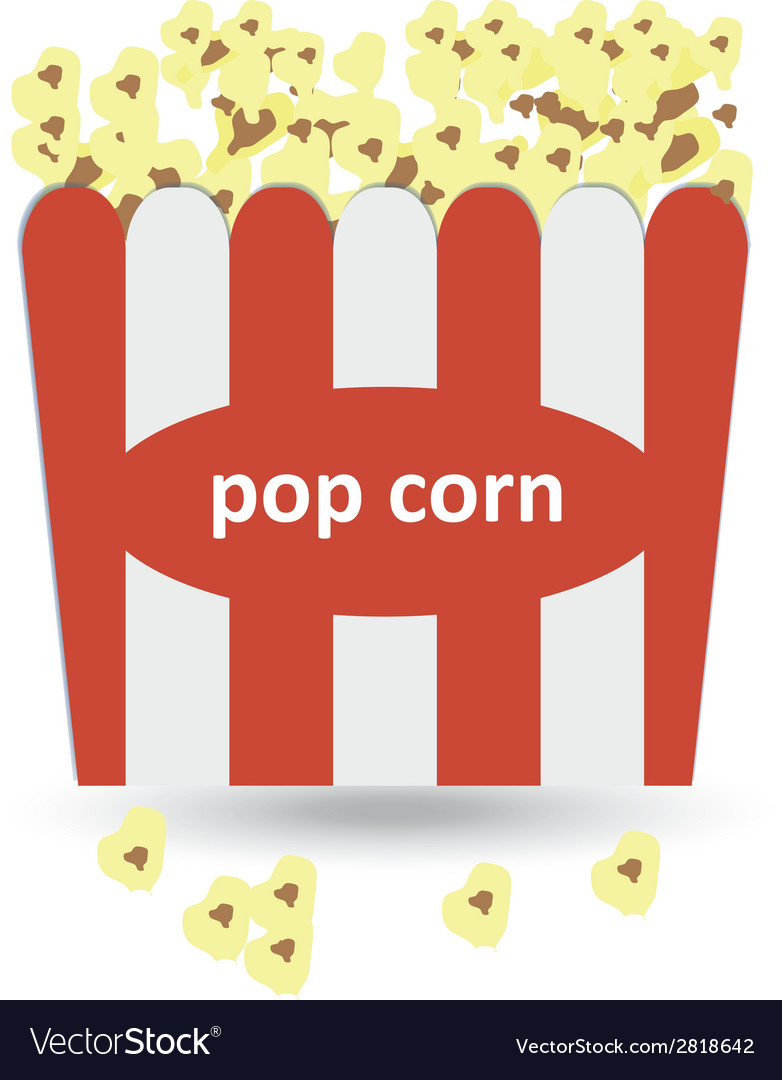 Popcorn icon vector | Price: 1 Credit (USD $1)