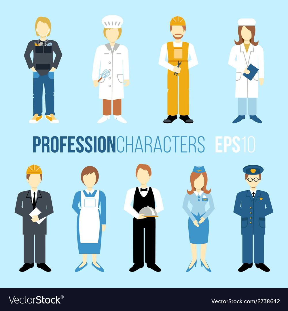 Proffession characters set vector | Price: 1 Credit (USD $1)
