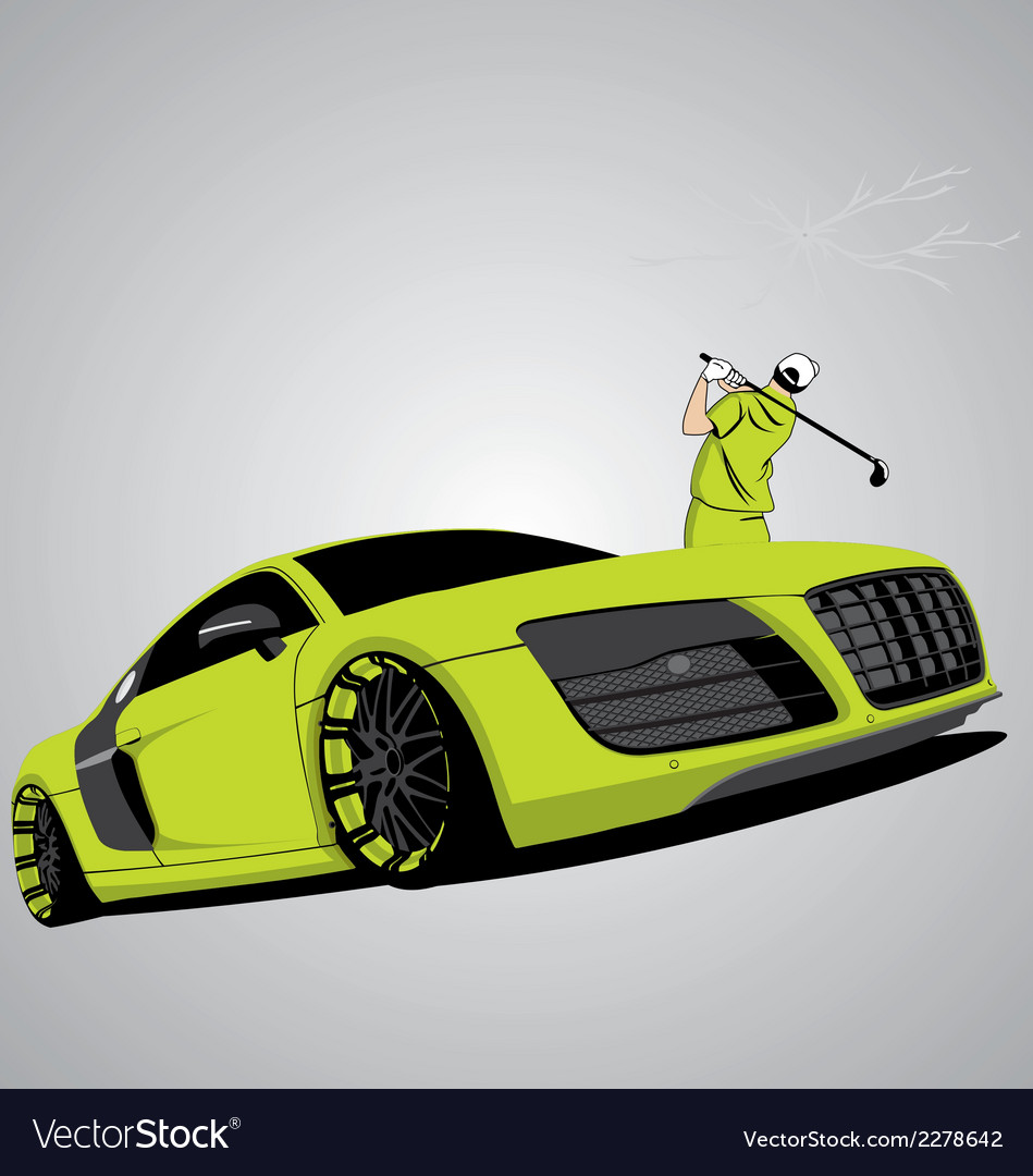 R8 car vector | Price: 1 Credit (USD $1)