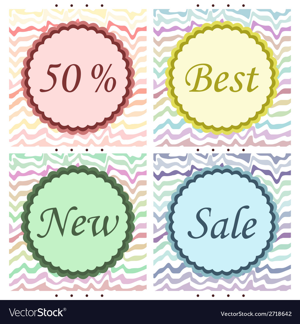 Sale emblems vector | Price: 1 Credit (USD $1)