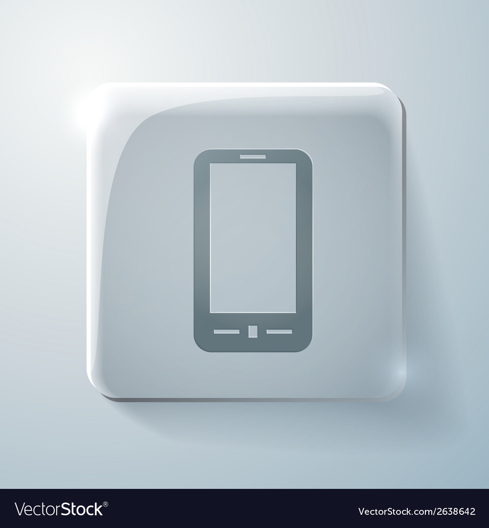 Smartphone glass square icon with highlights vector | Price: 1 Credit (USD $1)