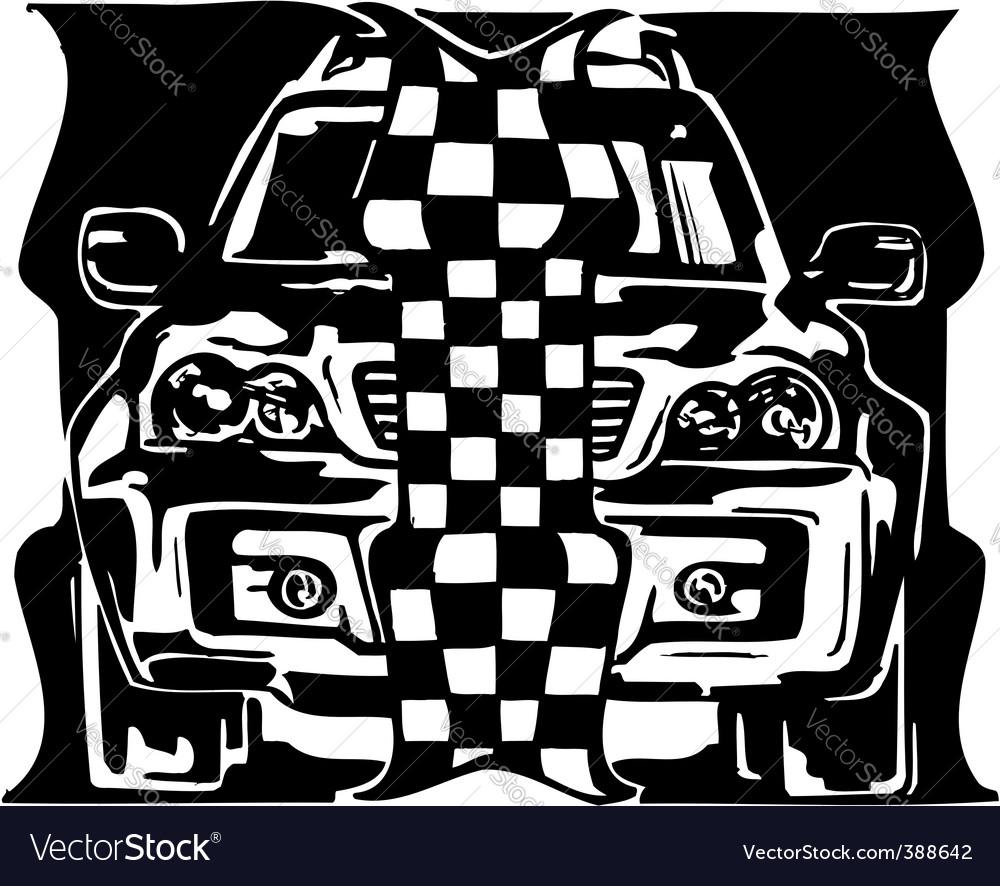 Street racing cars vector | Price: 1 Credit (USD $1)