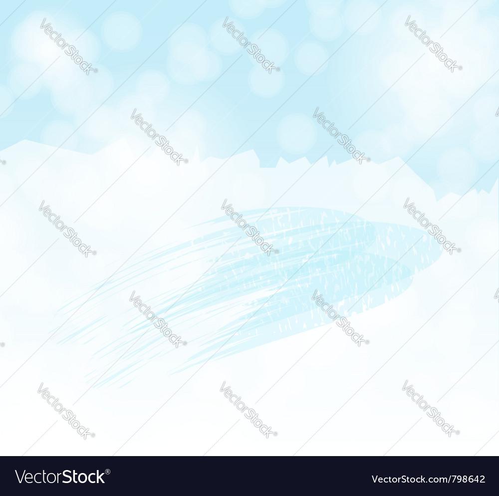 Winter sky background vector | Price: 1 Credit (USD $1)