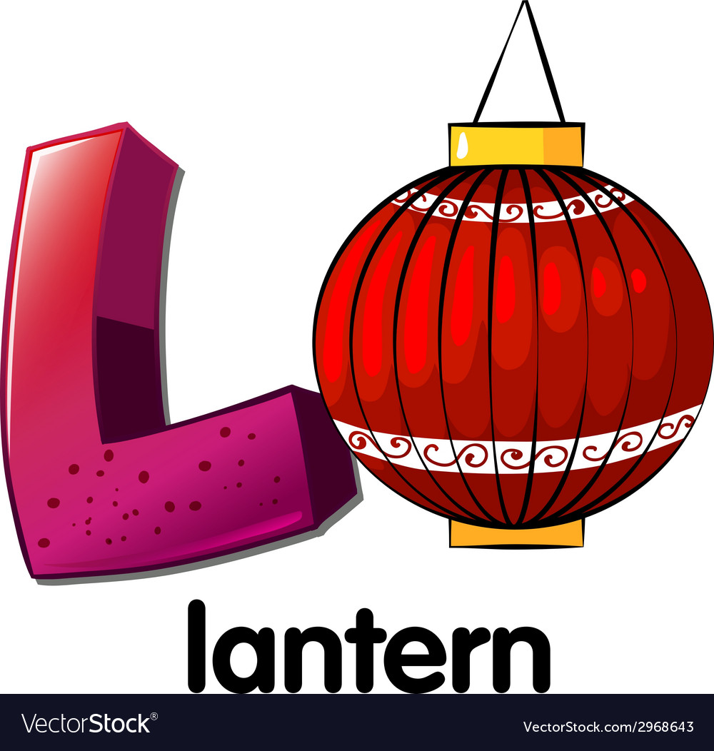 A letter l for lantern vector | Price: 1 Credit (USD $1)