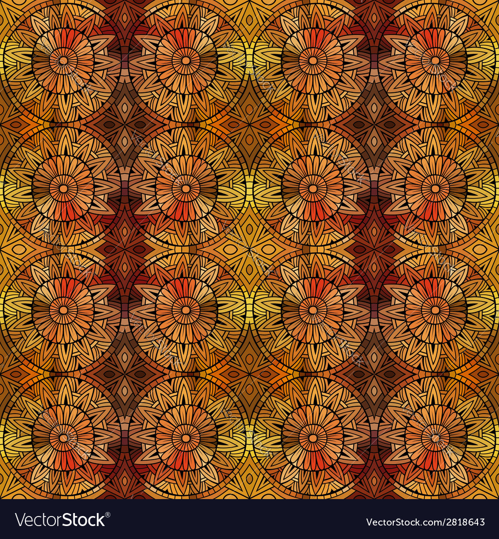 Abstract ethnic seamless pattern vector | Price: 1 Credit (USD $1)