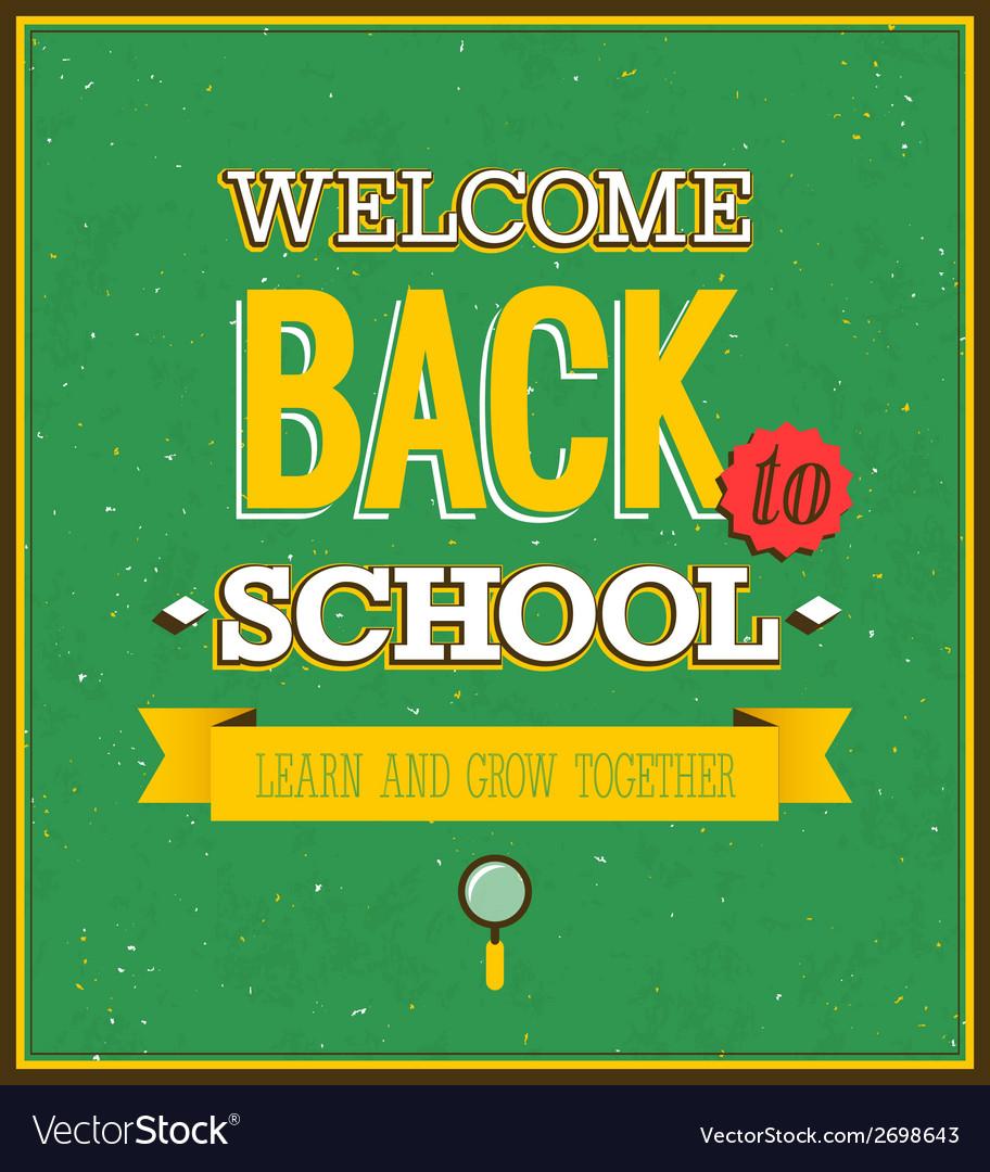 Back to school typographic design vector | Price: 1 Credit (USD $1)