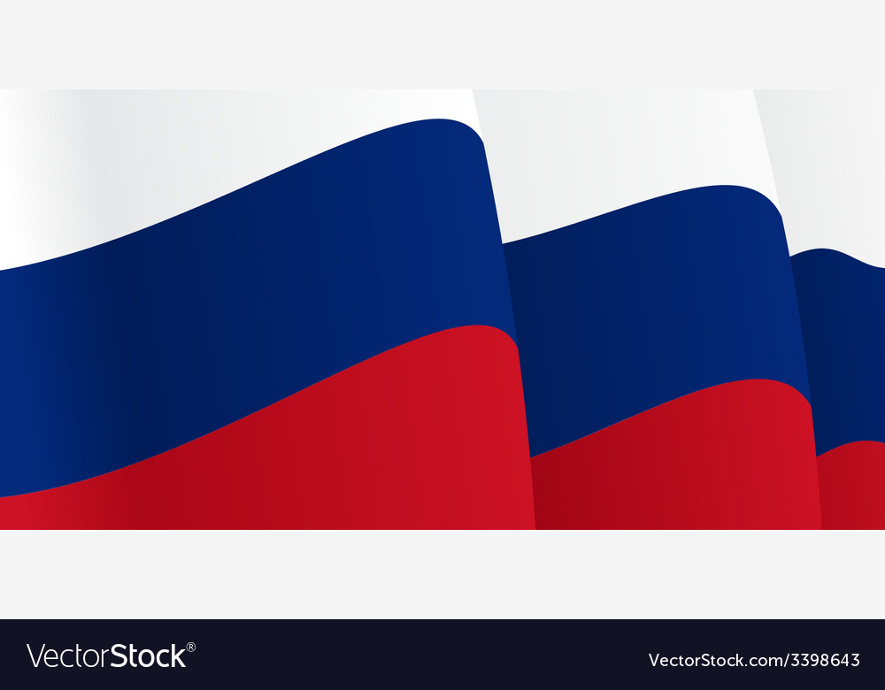 Background with waving russian flag vector   Price: 1 Credit (USD $1)