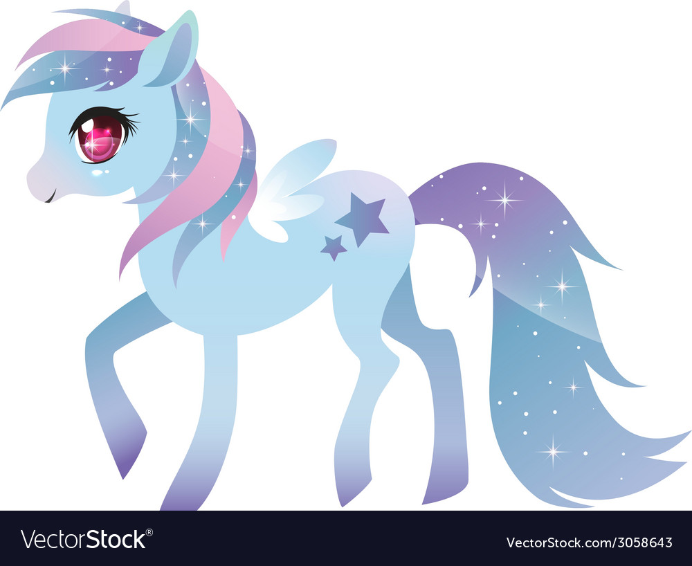 Colorful pony with wings vector   Price: 1 Credit (USD $1)