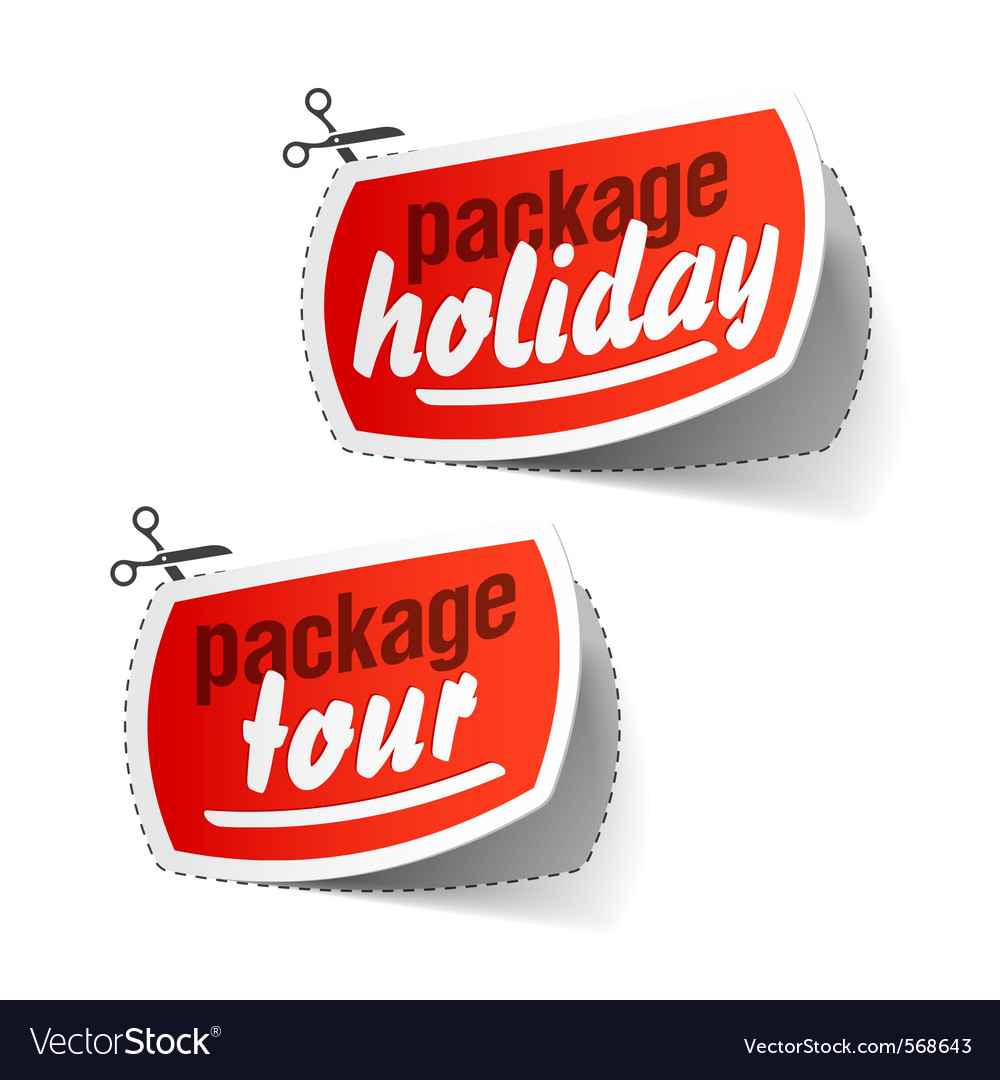 Package holiday vector | Price: 1 Credit (USD $1)