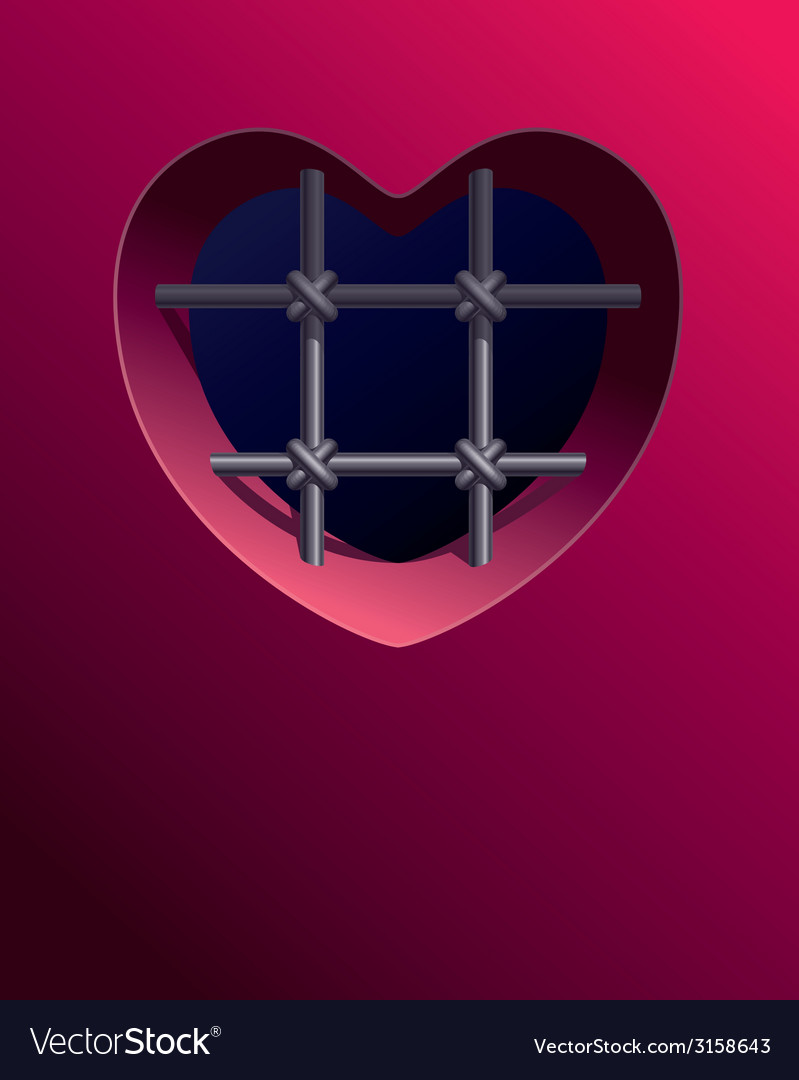 Prison of heart vector | Price: 1 Credit (USD $1)
