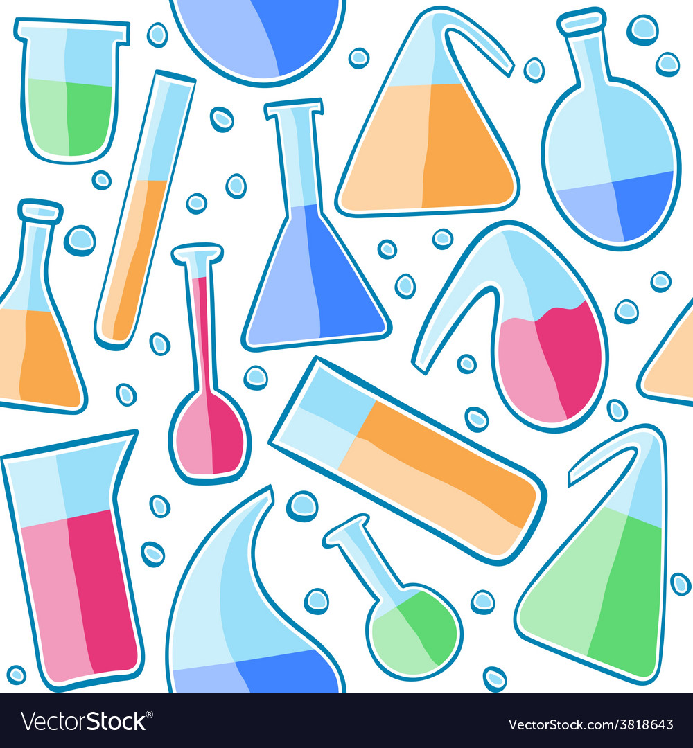 Seamless pattern laboratory glass vector | Price: 1 Credit (USD $1)