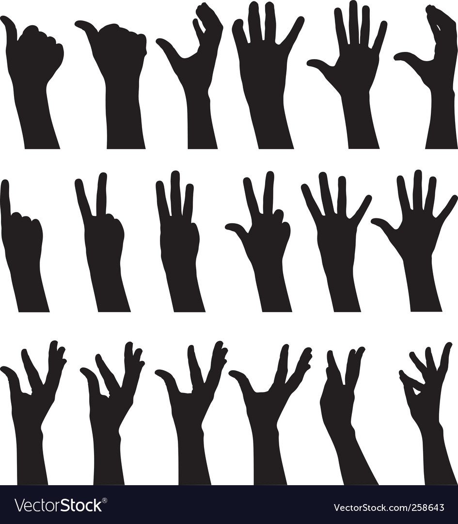 Sign language vector | Price: 1 Credit (USD $1)