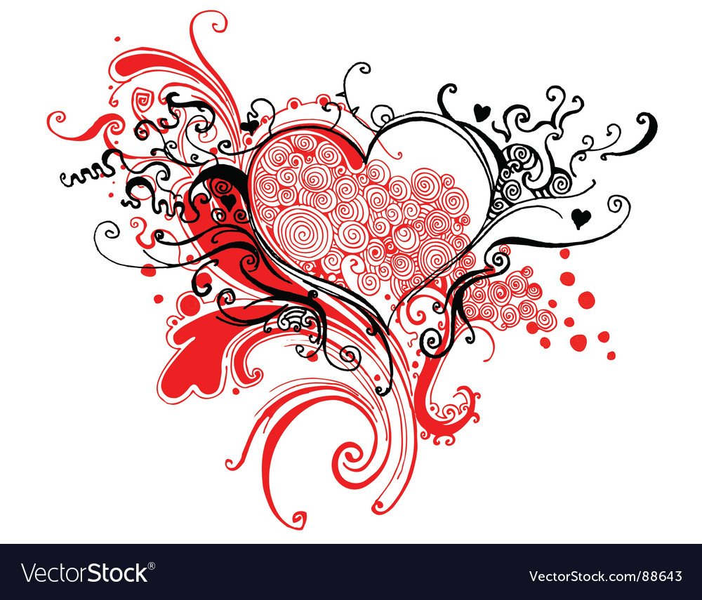 Sketchy heart graphic vector | Price: 1 Credit (USD $1)