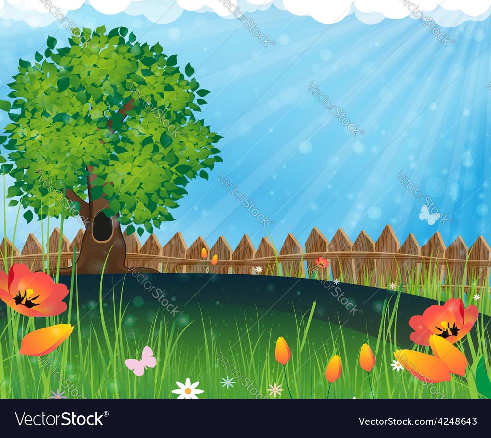 Summer meadow vector | Price: 3 Credit (USD $3)
