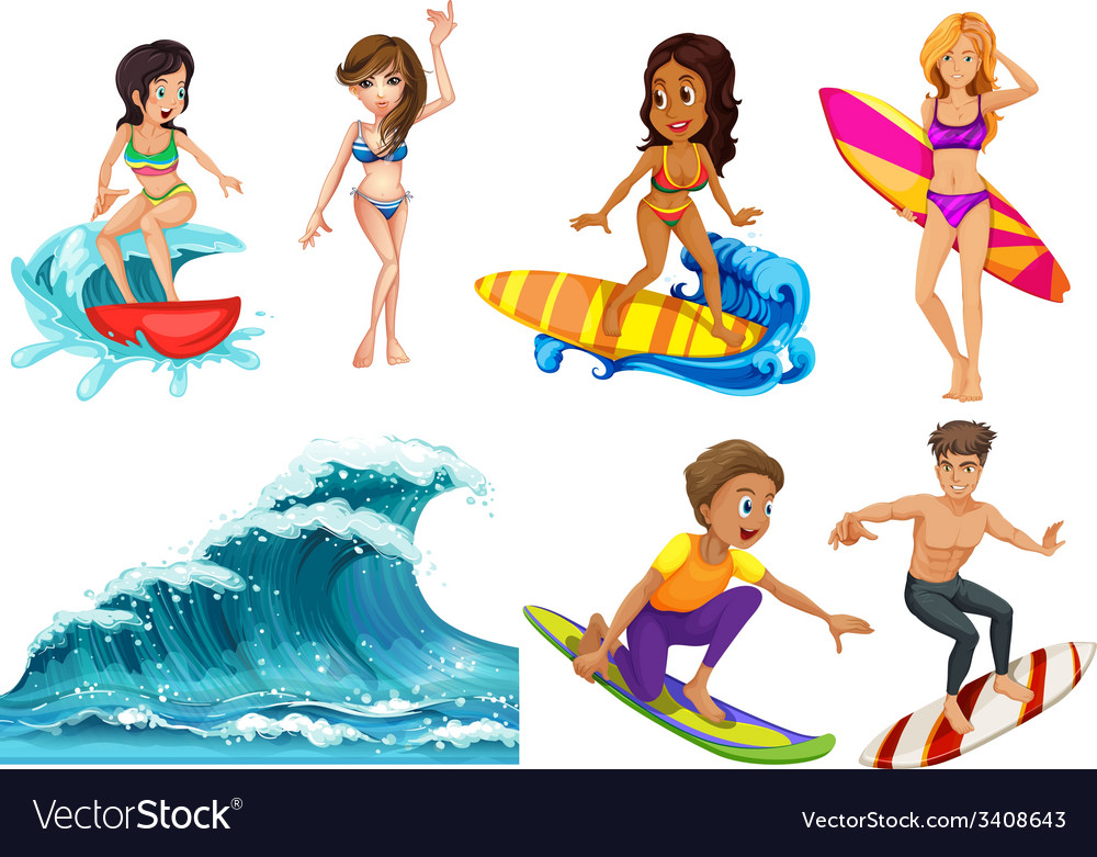 Surf vector | Price: 3 Credit (USD $3)