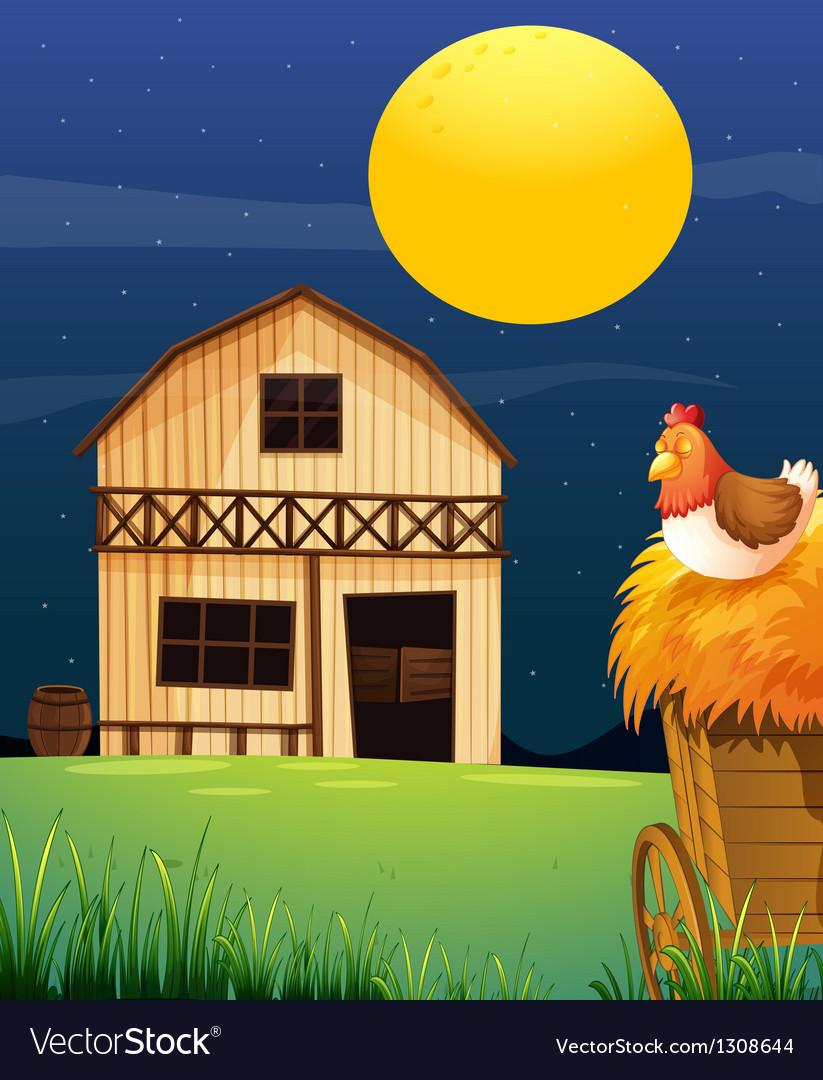 A wooden farm barn vector | Price: 1 Credit (USD $1)