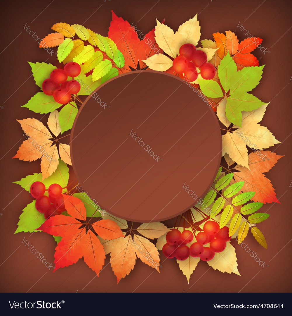 Autumn fall leaves vector | Price: 3 Credit (USD $3)