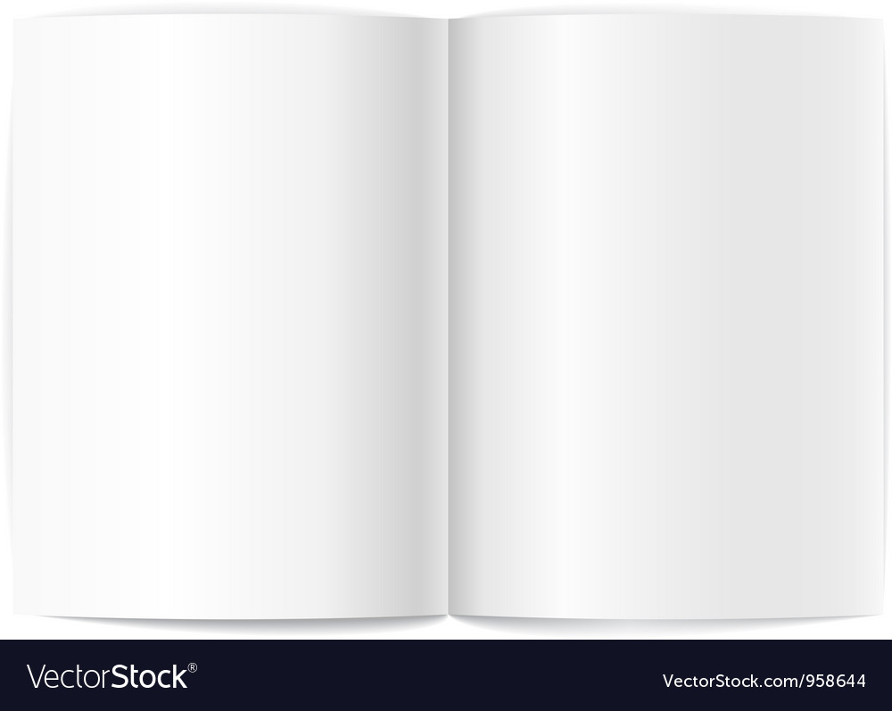 Blank book pages template vector   Price: 1 Credit (USD $1)