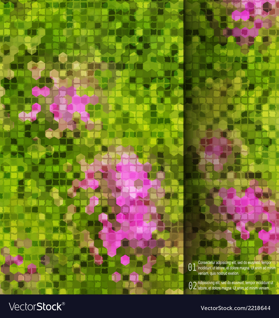 Blurred garden flowers square mosaic template vector | Price: 1 Credit (USD $1)