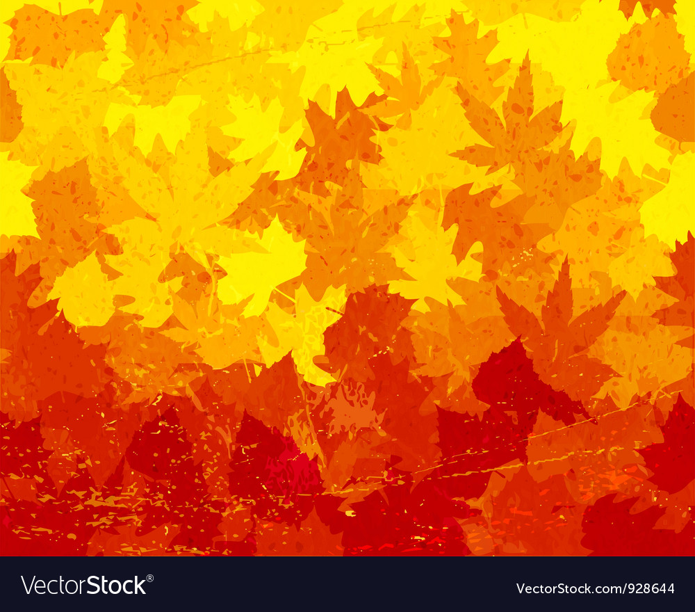 Distressed autumn leaves wallpaper vector | Price: 1 Credit (USD $1)