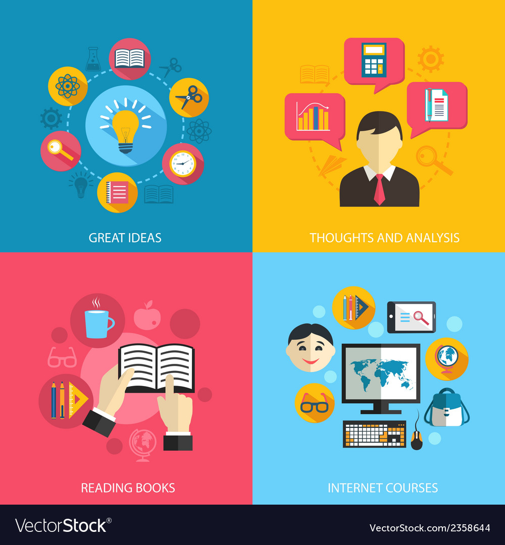 Education learning concept vector | Price: 1 Credit (USD $1)